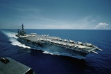Aircraft Carrier USS Constellation at Sea Stampa fotografica