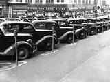 Cars Parked on Street Fotografie-Druck von John Vachon