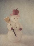 Snowman and Broom by Jennifer Kennard Photographic Print by Jennifer Kennard