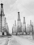 Oil Fields in Texas Photographic Print