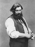 Portrait of Gustave Courbet Fotoprint van  Nadar