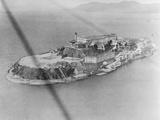 Aerial View of Alcatraz Island Photographic Print