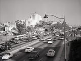 Traffic on the Hollywood Freeway Photographic Print by Philip Gendreau