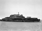 Alcatraz Island from Sea Level Photographic Print