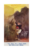 John Bull Making the Climb from War to Peace and Happiness Giclee Print