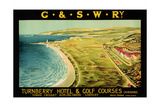 Turnberry Hotel and Golf Courses, Poster Advertising British Railways Lámina giclée