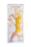 Map of the Champagne Region: the Côte Des Blancs Reproduction procédé giclée