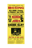 Illustrated Broadside Advertising Cassius Clay at the Ice Rink, Paisley, Scotland Reproduction procédé giclée