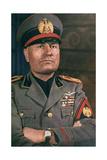 Il Duce, Benito Mussolini Giclée-vedos