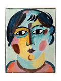 Girl's Head; Madchen Kopf Giclee-trykk av Alexej Von Jawlensky