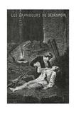 Les Grandeurs Du Desespoir - Illustration from Les Misérables, 19th Century Giclee Print by Alphonse Marie de Neuville