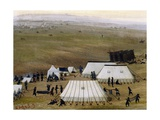 Argentine Camp During War Against Paraguay Giclee Print by Candido Lopez
