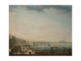 Saint Lucia District, Naples Giclée-tryk af Antonio Joli