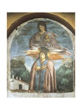 St Julian, Fresco Giclée-tryk af Andrea Del Castagno