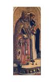 St Peter and St Dominic, Detail from Camerino Polyptych Giclée-vedos tekijänä Carlo Crivelli