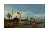 Capriccio, the Lagoon Reproduction procédé giclée par Bernardo Bellotto