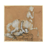 Achilles and Cheiron Giclee Print by Auguste Rodin