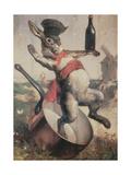 """Sign of the Cabaret """"Au Lapin Agile"""", 1875 Reproduction procédé giclée par Andre Gill"""