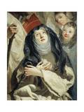 Saint Teresa, Detail from Four Camaldolese Saints, 1760-1770 Giclée-tryk af Giandomenico Tiepolo