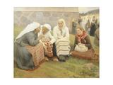 Ruokokoski Women, Finland 19th Century Giclée-tryk af Albert Edelfelt