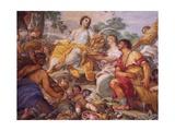 Fresco Depicting Summer Giclée-tryk af Carlo Maratti