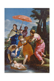 Moses Rescued from the Water, C.1655-57 Giclee Print by Giovanni Francesco Romanelli