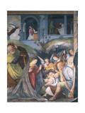 Nativity, Fresco Giclée-tryk af Gaudenzio Ferrari