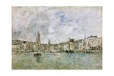 The Port at Honfleur, 1896 Reproduction procédé giclée par Eugène Boudin