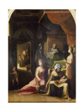 Birth of the Virgin, 1486-1551 Giclée-tryk af Domenico Beccafumi