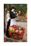 The Flower Girl, 1888 Giclee Print by Childe Hassam
