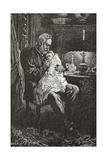 The Sick Child, 19th Century Giclée-Druck von Daniel Urrabieta Vierge