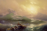 The Ninth Wave, 1850 Reproduction procédé giclée par Ivan Konstantinovich Aivazovsky