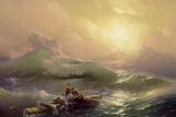 The Ninth Wave, 1850 Giclée-tryk af Ivan Konstantinovich Aivazovsky