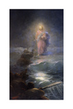Jesus Walking on Water Giclée-tryk af Ivan Konstantinovich Aivazovsky
