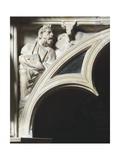 Crest of Arc Depicting Evangelist Luke, Detail from Pergamon or Pulpit Giclée-tryk af Giovanni Pisano