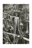 Gwynplaine at the Chamber of Lords - Illustration from L'Homme Qui Rit, 19th Century Giclee Print by Georges Marie Rochegrosse