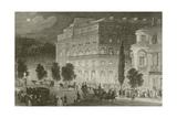 The Boulevards Giclee Print by Eugene-Louis Lami