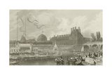 Tournay on the Seine During the July Fetes Giclee Print by Eugene-Louis Lami