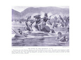 The Battle of Lake Trasimenus 21 BC Giclee Print by George Derville Rowlandson