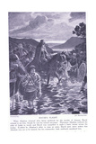 David's Flight Giclee Print by Georges Marie Rochegrosse