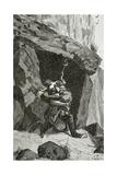 Combat D'Han D'Islande Et D'Ordener - Illustration from Han D'Islande, 19th Century Giclee Print by Georges Marie Rochegrosse