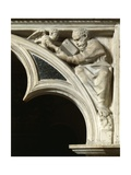 Italy, Tuscany, Pisa, Piazza Dei Miracoli, Cathedral Pulpit with Matthew the Evangelist Giclée-tryk af Giovanni Pisano