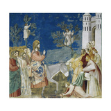 Jesus' Entry into Jerusalem, Detail from Life and Passion of Christ Giclee Print by  Giotto di Bondone