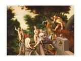 Diana and Actaeon Giclée-tryk af Francois Clouet