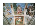 Frescoes Giclée-tryk af Domenichino