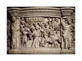 Figures of Prophets Framing Massacre of Innocents, Scene from Life of Christ Giclée-tryk af Giovanni Pisano