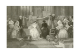 A French Marriage at St Roch Giclee Print by Eugene-Louis Lami