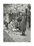 Mariage D'Ethel Et D'Ordener - Illustration from Han D'Islande,19th Century Giclee Print by Georges Marie Rochegrosse