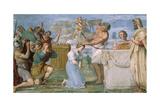 Fresco Giclée-tryk af Domenichino