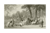 The Champs Elysees Giclee Print by Eugene-Louis Lami